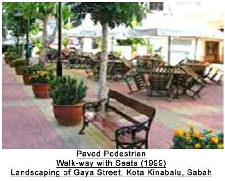 15 PAVED PEDESTRIAN GAYA STREET